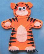 Tiger Felt Hand Puppet from Kids Craft
