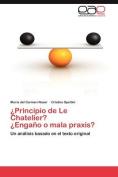 Principio de Le Chatelier? Engano O Mala Praxis?