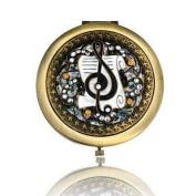 Music Design Brass Mirror Compact Model No. M-120