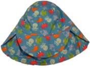 Toddler Boys Royal Blue Sun Hat Sea Creature Bucket Hat Fish Octopus Crab Aqua