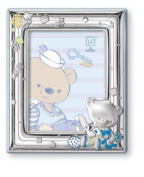 Silver Touch USA Sterling Silver Picture Frame, Choco Bear Playing with Toys, 10.2cm X 15.2cm