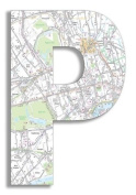 The Home Stupell Home Decor Collection London Map Hanging Wooden Initial, P, 46cm