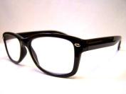 RETRO Black Wayfarer READING GLASSES +2.5 Geek 50's 60's Nerd 2.5 Prescription Spectacles