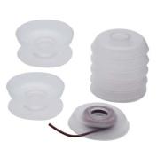 No Tangle Flexible Plastic Thread Bobbins For Kumihimo Or Macrame 4.8cm