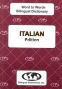English-Italian & Italian-English Word-to-Word Dictionary