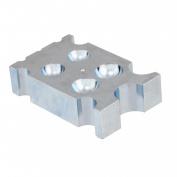 Jeweller's Steel Dapping Doming Block 14 Half-Spheres 8 Half-Cylinder