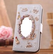 EVTECH(TM) GEM Series Luxury Crystal Diamond Bling Design PU Leather Wallet Cover Case