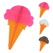 Beistle 55777 Tissue Ice Cream Cones, 190cm