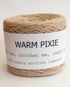 Luxury 100% Soft Scottish Lambswool - Beige - For Hand & Machine Knitting, Crochet and Crafting.