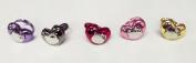 Hello Kitty Face Metallic Heart Ring