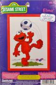 Janlynn Sesame Street Elmo Soccer Counted Cross Stitch Kit 68-18