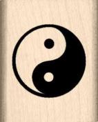 Yin & Yang Rubber Stamp - 2.5cm x 2.5cm - 0.6cm