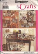 Simplicity 9471 - Frames, Covered Boxes, Baskets Patterns
