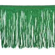 Chainette Fringe P-7044 100-Percent Polyester 10cm Fringe Embellishment, 10-Yard, 15 Emerald