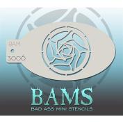 Bad Ass Geometric Rose Mini Stencil BAM3006