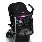 Built Day Tripper Stroller Organiser, In Mini Dot Black and White