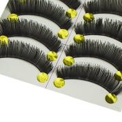 10 Pairs Natural False Eyelashes Invisible Clear Band Model