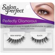 Salon Perfect Perfectly Glamorous Demi Wispies Eyelashes, Black, 1 pr