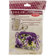 Riolis R1039 Counted Cross Stitch Kit, 11cm by 8.3cm , Pansy