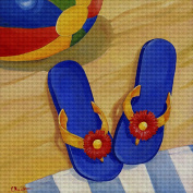 Art Needlepoint Blue Flip Flop Kit by Paul Brent