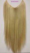 APLUS PINK VEIL Halo Hair Extension Synthetic Straight Hair 36cm - 46cm Colour#24B27C - Butterscotch Blonde/Strawberry Blonde