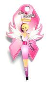 Diva Tweezer Professional Tweezers Breast Cancer Awareness Pink Ribbon Edition Faith TW1006F
