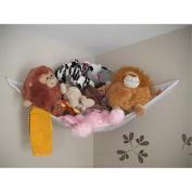 TekBox® Large High Quality Multi-purpose Mesh Corner Hammock - For Childs Bedroom, Baby Nursery, Bathroom- Toy Toys Teddy Teddies - Tidy Organiser Storage - 1.4 x 1 x 1m - White