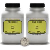 Zinc Oxide [ZnO] 99+% ACS Grade Powder 0.5kg in Two Space-Saver Bottles USA