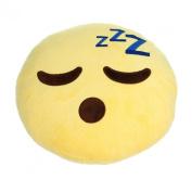 Wensltd. Soft Emoji Smiley Yellow Round Pillow Plush Toy