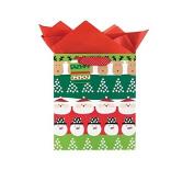 International Greetings Medium Gift Bag, Santa and Friends