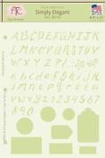 Simply Elegant Alphabet & Numbers Stencil, 20cm - 1.3cm x 28cm