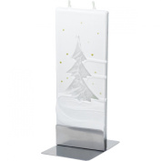 Flatyz Twin Wick Unscented Thin Flat Candle - Christmas Tree Snow