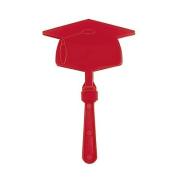 Burgundy Graduation Mortar Board Clapper