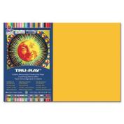 Tru-Ray Construction Paper, 34kg., 30cm x 46cm , 50/PK, Gold