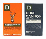 Duke Cannon Deep Cleaning Hand Soap + Scent Eliminating Hunting Soap - Made in USA