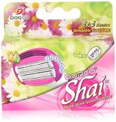 Soft TouchTM 6 Blade Razor System for Women Cartridges (Dorco Shai)
