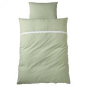 Wellyou Children's Bedding Set Green Vichy, Size 135X200cm