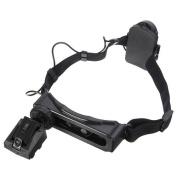 8 Lens Head-Wearing Headband LED Repair Magnifier Magnifying Loupe + 9 LED Flashlight