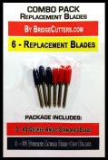 COMBO 45/60 -6 Standard Deep Cut Replacement Blades for Craft Cutting Machines, Bridge, Cricut, Roland