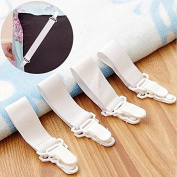 4x Bed Sheet Grippers Clip Holder Fasteners Set Elastic