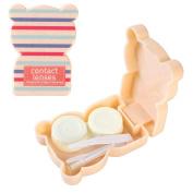 JAVOedge Teddy Bear Contact Lens Travel Kit, Stripes