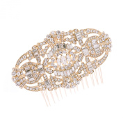 Art Deco Hair Comb Clear Austrian Crystal Crystals Rhinestone Bridal Wedding Hair Combs Hairpins Head Jewellery Accessories 5186