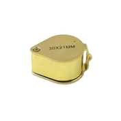 30x Gold Jewellers Loupe 21mm Glass Lens with LED Light and Case