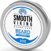 Beard Conditioner for Men - Natural Wax Conditioning Softener that Soothes Itching - Use With Beard Oil and Balm for Best Results and Growth - Argan Oil, Shea Butter and Beeswax - 60ml - Smooth Viking