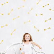 48Pcs Arrow Pattern Removable Wall Sticker Vinyl Decal Kids Nursery Decor Art-Gold