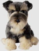 Schnauzer Dog Soft and Cuddly Toy Realistic 30cm