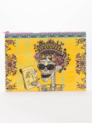 Blue Q Womens Day Of The Dead Jumbo Pouch Multi