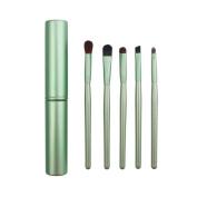AMarkUp Professional 5 Pcs Pony Hair Eyeshadow Makeup Brushes Set & Kits For Eye Makeup Tool Kit + Round Tube