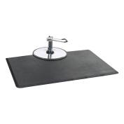 OMWAH 1.3cm Thickness Black 0.9m x 1.5m Rectangular Salon Mat