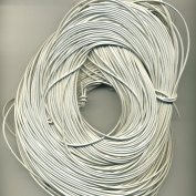 1 MM White Leather Cord 25 M Hank